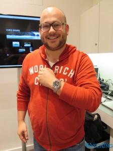 De gelukkige Prospex-winnaar: Tom Koerts
