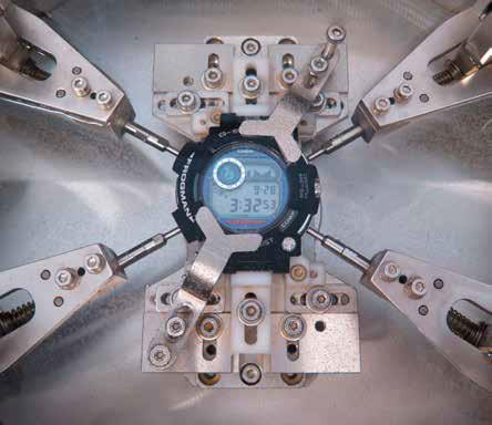 Een van de pijnbanken voor het testen van G-Shock.
